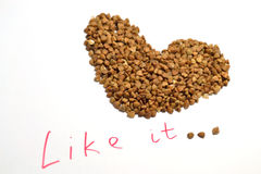 Buckwheat heart Stock Image