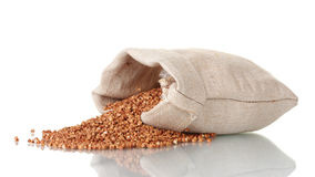 Buckwheat In A Bag Stock Photography