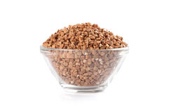 Buckwheat In Bowl Stock Photography