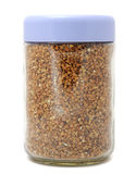 Buckwheat in Jar Stock Image