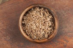 Buckwheat kasha in a bowl Stock Images