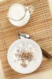 Buckwheat kasha with milk Royalty Free Stock Images