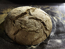 Buckwheat loaf of bread. In the oven Royalty Free Stock Photo