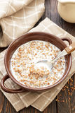 Buckwheat with milk Royalty Free Stock Photo