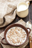 Buckwheat with milk Royalty Free Stock Images