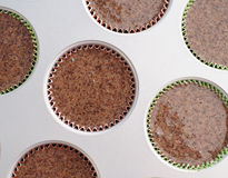 Buckwheat muffins before baking Royalty Free Stock Images
