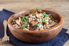 Buckwheat with mushrooms Royalty Free Stock Images
