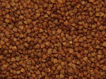 Buckwheat - a natural product, a storehouse of vitamins and nutrients. royalty free stock images