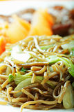 Buckwheat noodles closeup Stock Photos