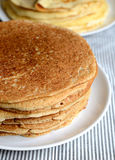 Buckwheat pancakes Stock Photos