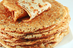 Buckwheat pancakes Stock Images