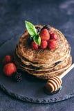 Buckwheat pancakes Stock Photos