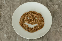 Buckwheat in a plate Royalty Free Stock Images