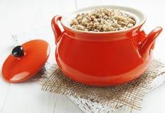 Buckwheat porridge Stock Photo
