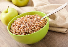 Buckwheat porridge in a bowl Royalty Free Stock Image