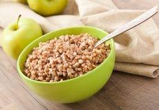 Buckwheat porridge in a bowl Royalty Free Stock Image