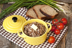 Buckwheat porridge with butter Royalty Free Stock Photo