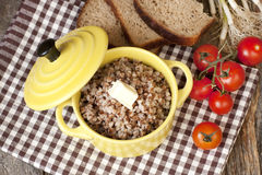 Buckwheat porridge with butter Royalty Free Stock Image