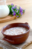Buckwheat porridge with milk Royalty Free Stock Images