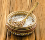 Buckwheat porridge Stock Photo