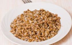 Buckwheat porridge with minced meat Royalty Free Stock Photo