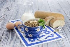 Buckwheat porridge on the table Royalty Free Stock Image