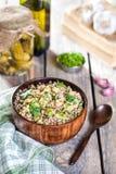 Buckwheat porridge with vegetables Royalty Free Stock Images