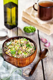 Buckwheat porridge with vegetables Royalty Free Stock Photos