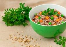 Buckwheat porridge Stock Photos