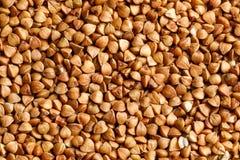 Buckwheat raw food ingredient texture. Macro close up detailed Royalty Free Stock Photos