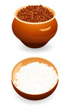 Buckwheat and rice Royalty Free Stock Images