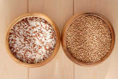 Buckwheat and rice Royalty Free Stock Photos