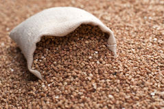 Buckwheat in sac Royalty Free Stock Image