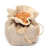 Buckwheat in the sack Stock Photo