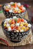 Buckwheat salad with tomatoes and feta Stock Images