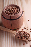 Buckwheat seeds Royalty Free Stock Image