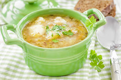 Buckwheat soup Stock Images
