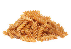 Buckwheat spiral dry pasta Stock Photo