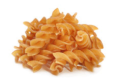 Buckwheat spiral dry pasta Royalty Free Stock Image