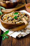 Buckwheat stewed with mushrooms Royalty Free Stock Photo