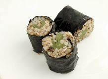 Buckwheat sushi. With green sweet pepper Stock Images