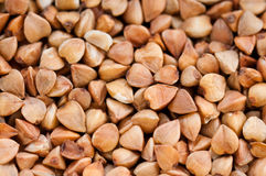 Buckwheat texture. Abtract background food Royalty Free Stock Photo