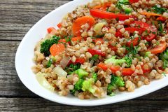 Buckwheat with vegetable Stock Photography