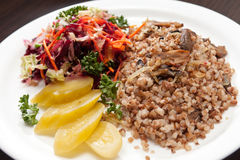 Buckwheat with vegetables Stock Photos