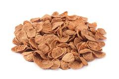 Buckwheat-wheat flakes heap Stock Images