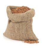 Buckwheat on white Royalty Free Stock Image