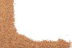 Buckwheat on a white background Stock Photo