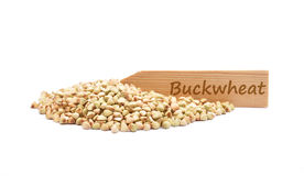 Buckwheat on white Royalty Free Stock Photography