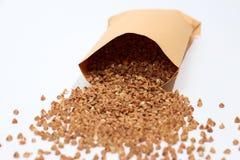 Buckwheat on white Stock Photos