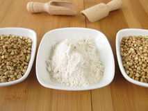 Buckwheat wholemeal flour Stock Images